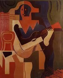 cubismo; Juan Gris; Arlequim com guitarra (1919)