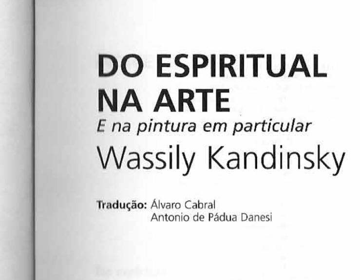 Do Espiritual na Arte