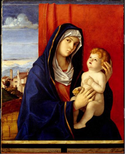 pintura renascentista; Giovanni BELLINI (ca.1430-3-ca.1516) Madona e Criança, ca.1480