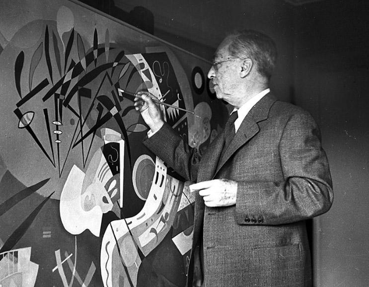 Kandinsky em seu ateliê
