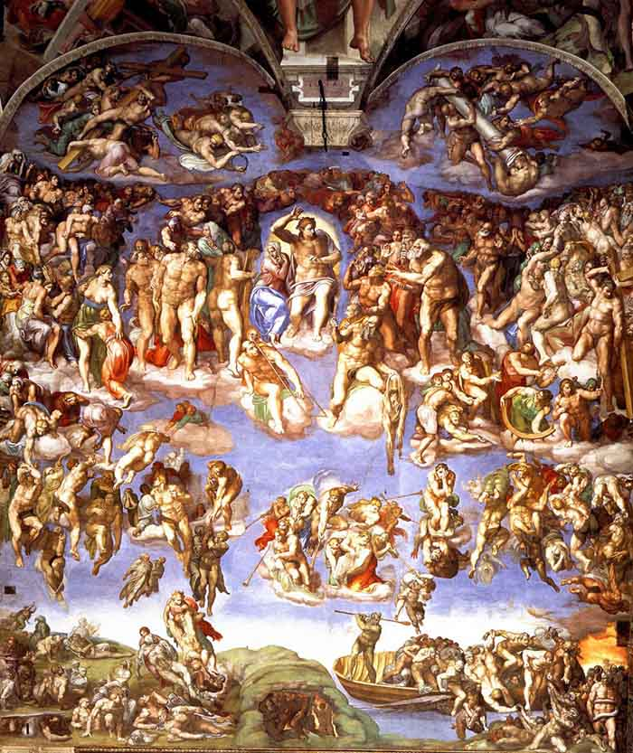 Last Judgement fresco in the Sistine Chapel (1536-1541)