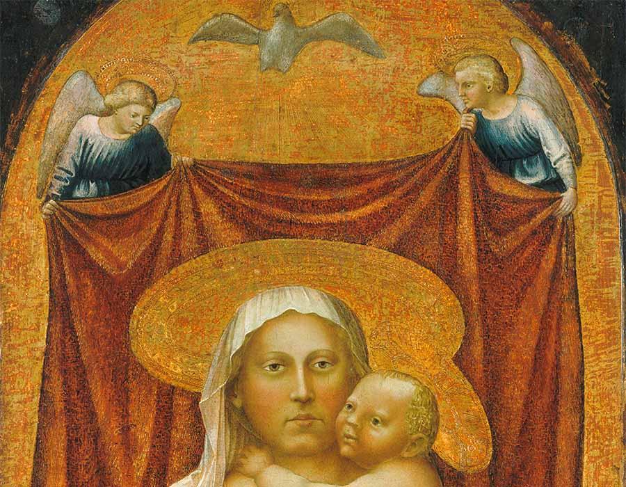 MASACCIO (1401 – 1428/9). Detalhe. A Madona da Humildade, 1423-1424