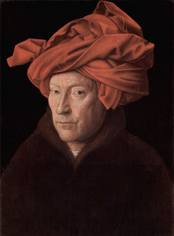 autorretrato; Jan van Eyck - Man in a Red Turban