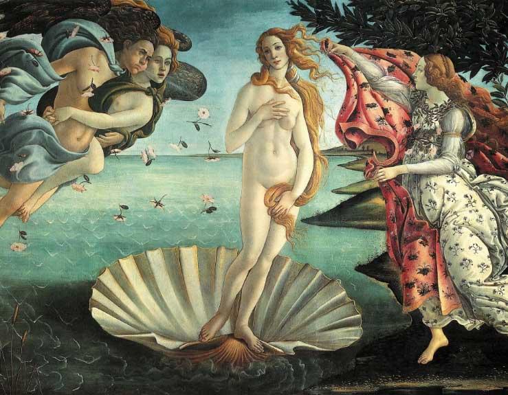 O Nascimento de Vênus Michelangelo