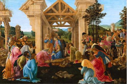 Sandro BOTTICELLI (1444-45-1510) A Adoração dos Magos, ca. 1478-1482