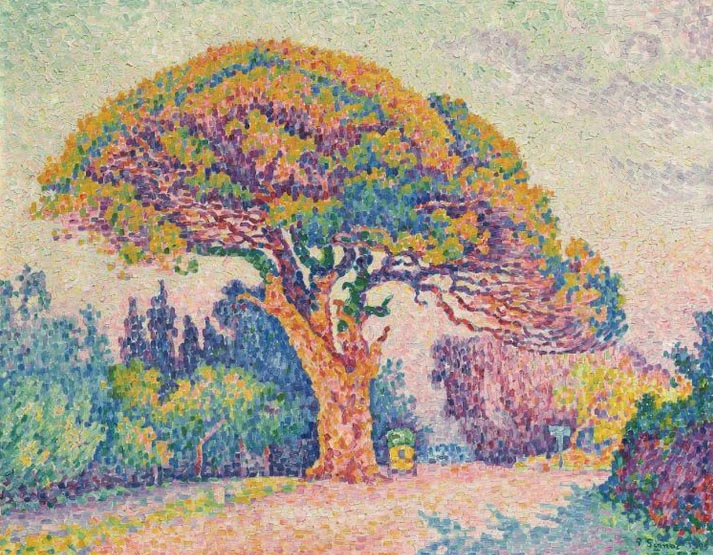 The Pine Tree at Saint Tropez, Paul Signac, 1909