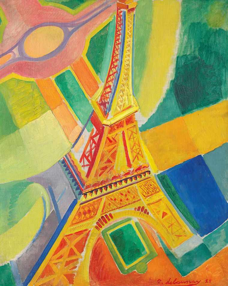 cubismo; Robert Delaunay; Torre Eiffel (1928)