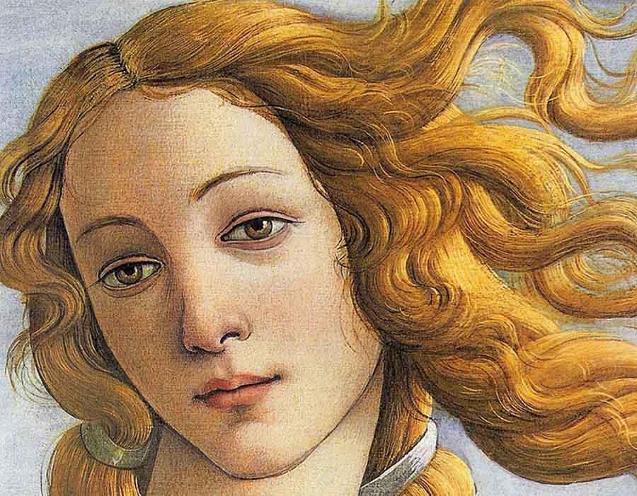 Nascimento da Vênus, de Botticelli (detalhe)