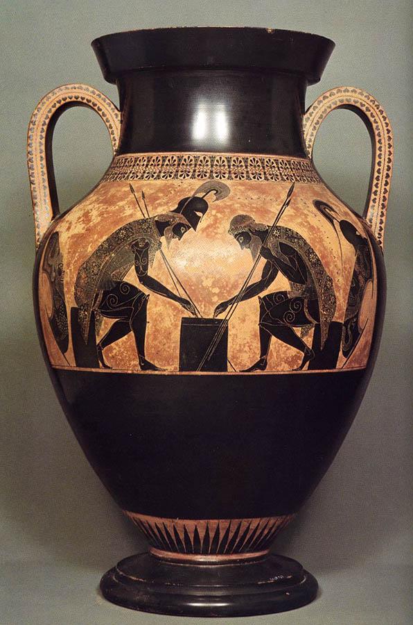 período arcaico; ânfora ática de figura negra