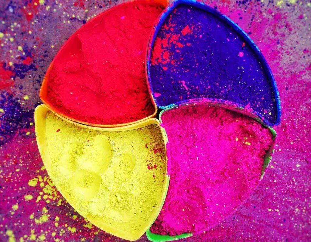 pigmentos brilhantes