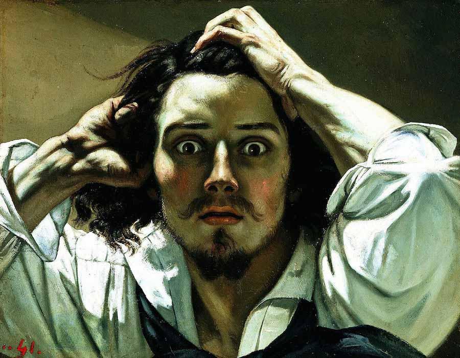 O Homem Desesperado (1845), de Gustave Courbet