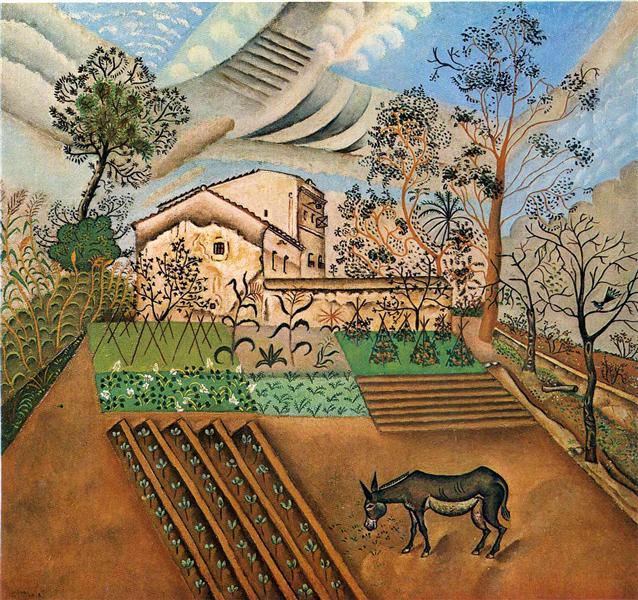 A Horta com o Burro (1918); Joan Miró