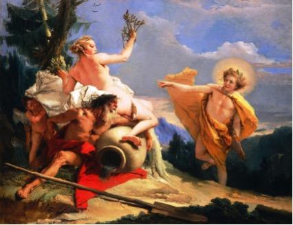 Giovanni Battista TIEPOLO (1696-1770) Apolo perseguindo Daphne, ca. 1755-1760