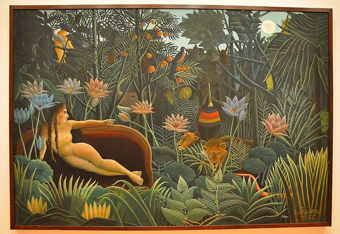 Henri Rousseau. The Dream. 1910. Oil on canvas, 6' 8 1:2 x 9' 9 1:2 (204.5 x 298.5 cm). Gift of Nelson A. Rockefeller