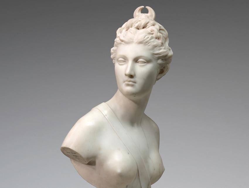 Jean-Antoine HOUDON (1741-1828) Diana, 1778. Escultura em Mármore