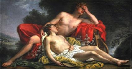 Nicolas-René JOLLAIN (1732-1804) Jacinto se transformando em flor, ca.1769