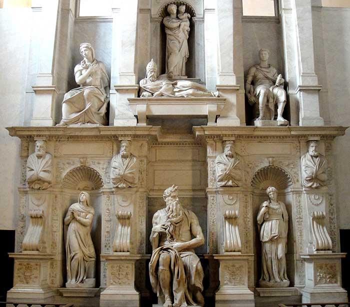 DETALHE- Mausoleo de Giulio II. Basilica di San Pietro in Vincoli, Roma, Itália