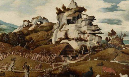 Jan Jansz MOSTAERT (1475-1555/56) Paisagem com um episódio da conquista da América