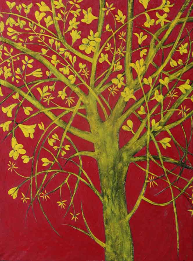 _Ipê Amarelo, 2017 Óleo sobre tela (200 x 150 cm)