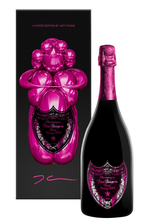 marketing e arte: Jeff Koon para Moet-Chandon