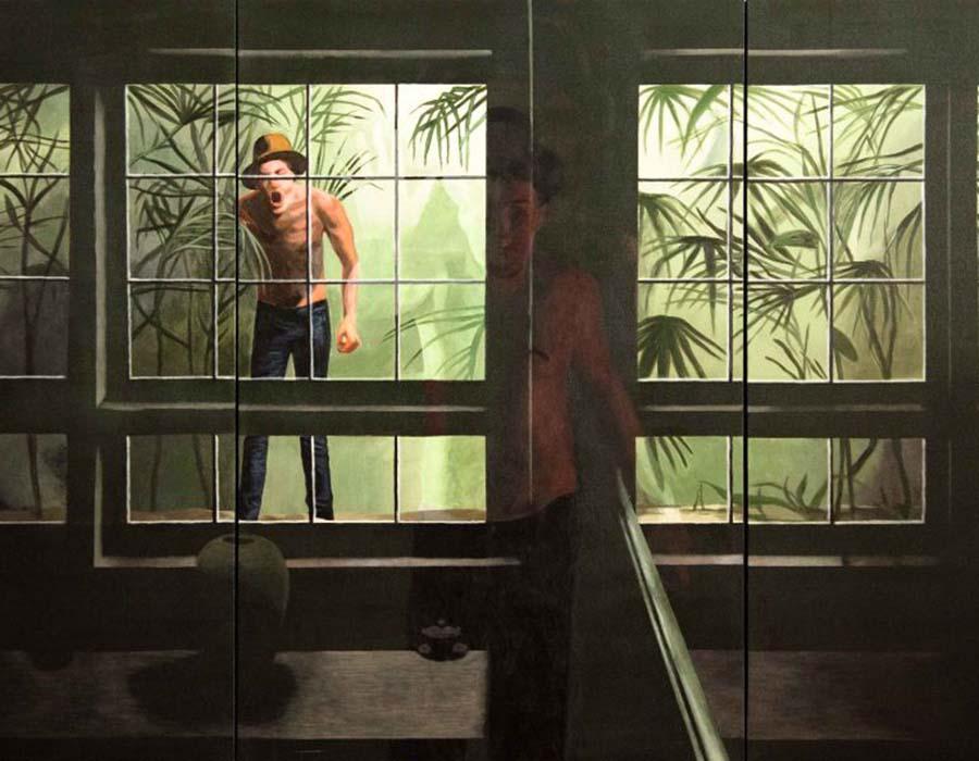 Rafael Coutinho, sem título, 2011, acrílica sobre tela, 120 x 240 cm