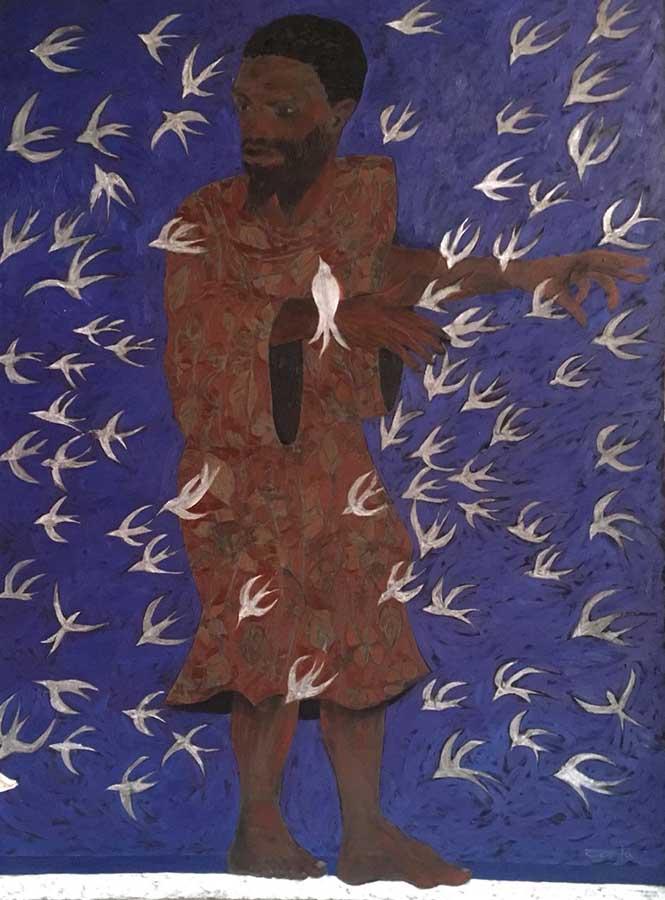 São Francisco e os pássaros, 2015 óleo sobre tela (200 x 150 cm)