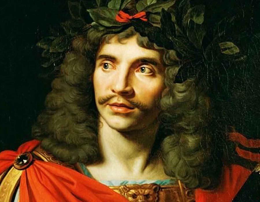 Molière vestido de romano
