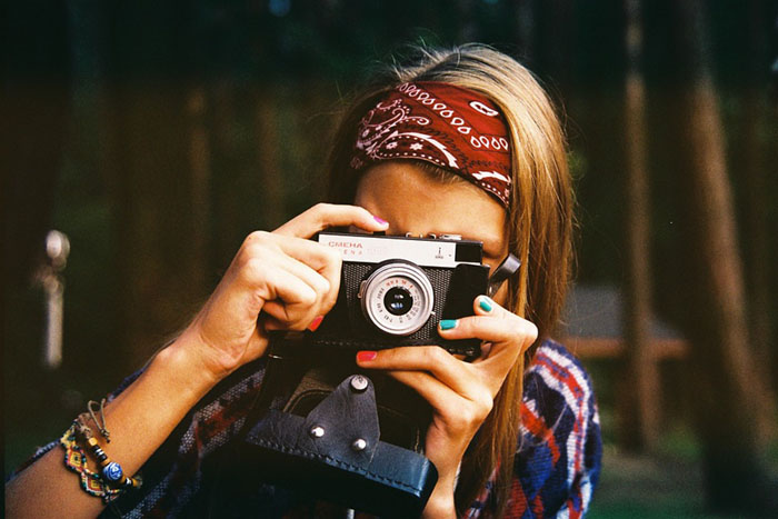 Câmera fotográfica moderna