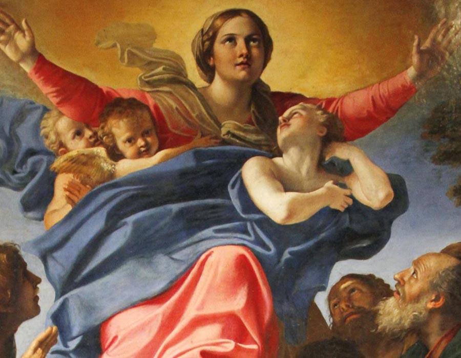 Annibale CARRACCI (1560-1609) Assunção da Virgem, 1600-1601 Óleo sobre tela. Altar da Capella Cerasi, no interior da Basilica Parrocchiale Santa Maria del Popolo [1] Roma, Itália