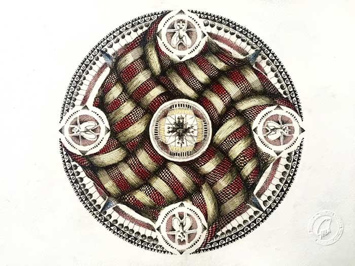 Mandala de seda