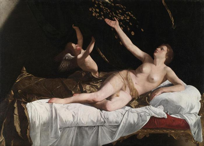 Orazio Lomi GENTILESCHI (1563-1639) Danaë, ca. 1623. Óleo sobre tela, 162 x 228.5. The Cleveland Museum of Art, Cleveland, EUA.