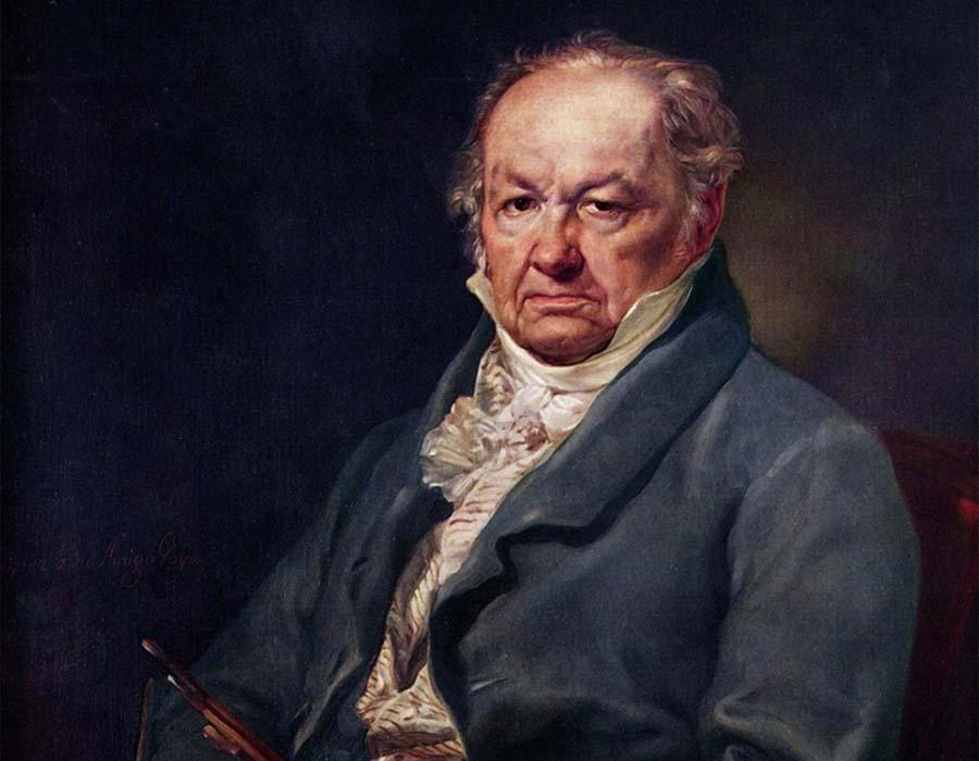 Goya; Retrato feito por Vicente López Portaña em 1826.