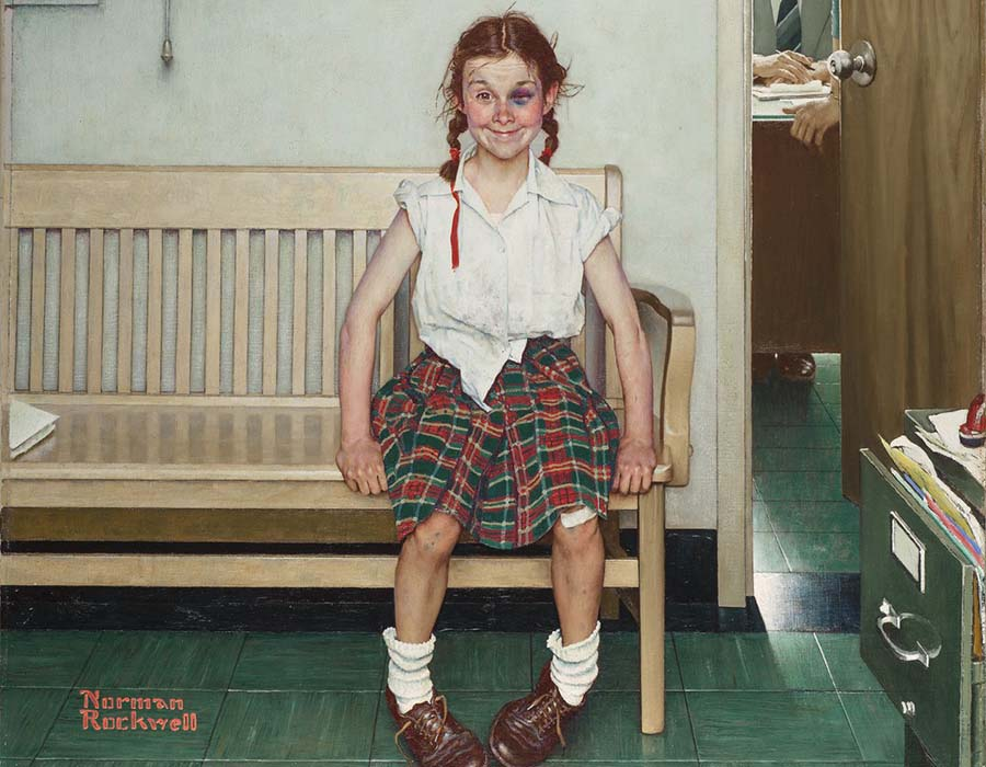 norman-rockwell-Outside the Principal's Office