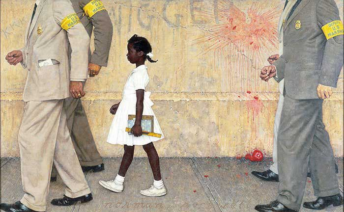 Norman Rockwell: The-Problem-We-All-Live-With-1964