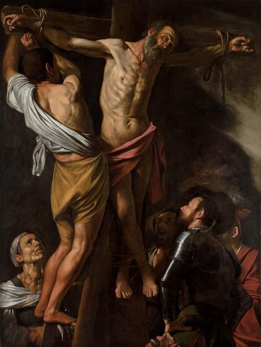 Michelangelo Merisi da CARAVAGGIO (1571-1610) A crucificação de Santo André, 1606–1607. Óleo sobre tela, 202.5x152.7. The Cleveland Museum of Art. Cleveland, EUA.