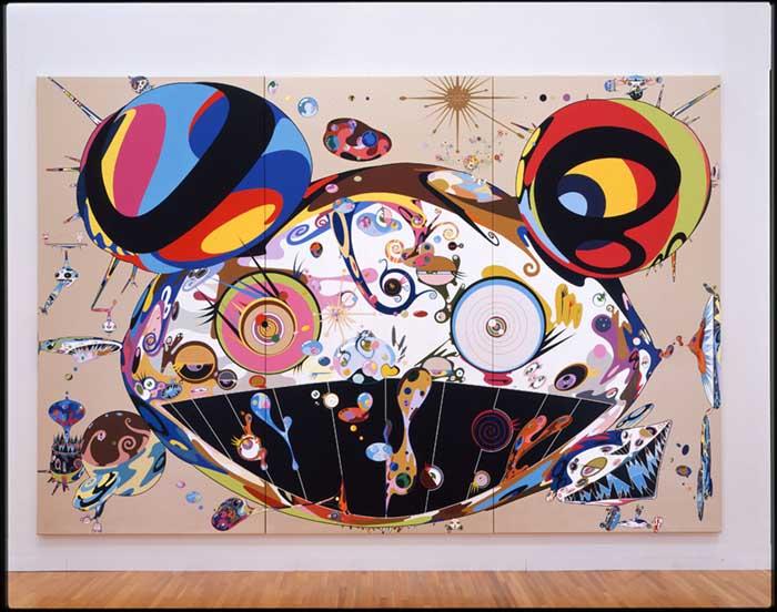 Tan Tan Bo, 2001 Acrylic on canvas mounted on board 360 x 540 x 6.7 cm (3 panels) Private Collection ©2001 Takashi Murakami/Kaikai Kiki Co., Ltd. All Rights Reserved.