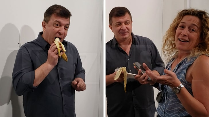 truques de marketing: David Datuna comendo a banana