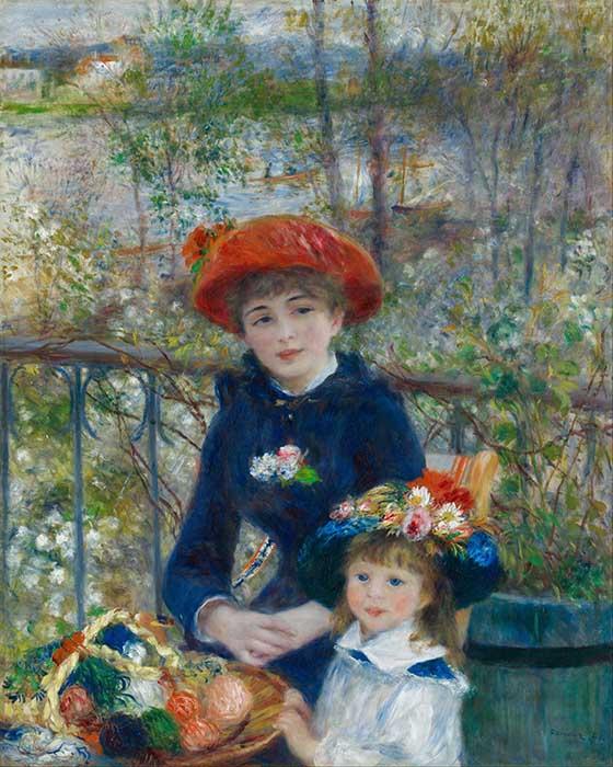 Pierre-Auguste Renoir | Duas irmãs (no terraço), 1881