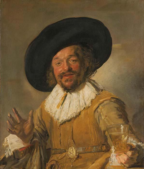 Barroco na Holanda - Frans HALS (c.1580-1666) O Alegre beberrão, ca. 1628/1630. Óleo sobre tela, 81x 66.5. Rijksmuseum, Amsterdam, Holanda.