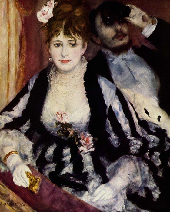 obras mais famosas de Renoir; Pierre-Auguste Renoir | La Loge (1874)