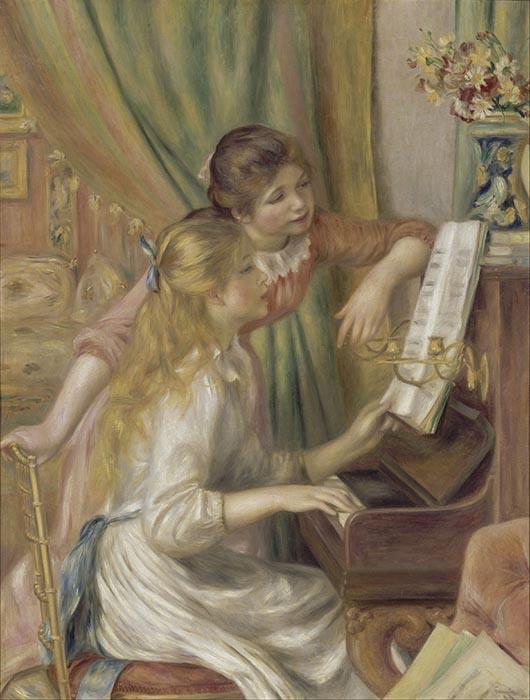 Pierre-Auguste Renoir | Raparigas ao Piano (1892)