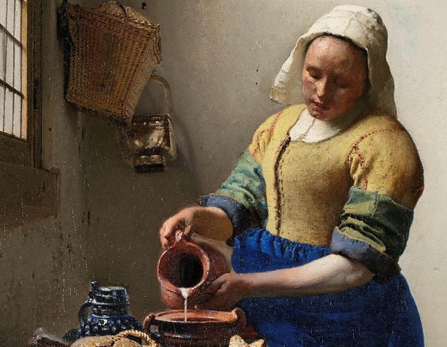 Johannes VERMEER (1632-1675) DETALHE: A Leiteira, ca. 1660. Óleo sobre tela, 45.5x41. Rijksmuseum, Amsterdam, Holanda. Disponível em: http://hdl.handle.net/10934/RM0001.COLLECT.6417 Acesso em 07 out. 2019.