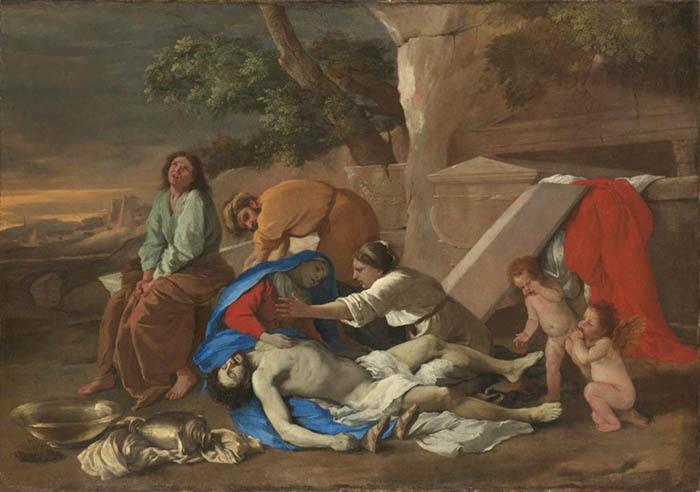 Nicolas POUSSIN (1594-1665) Lamentação de Cristo, 1628. Óleo sobre tela, 102,7x146,1. Alte Pinakothek, Munique, Alemanha