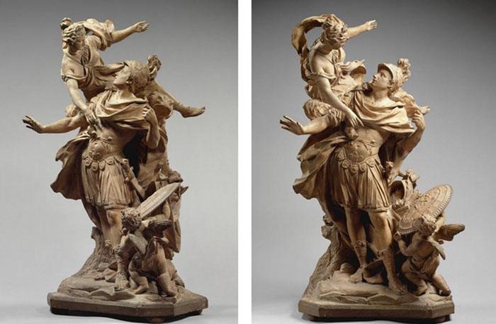 Classicismo Barroco e Mitologia; Jean CORNU (1650-1710) Vênus entregando armas a Enéias4, 1704.