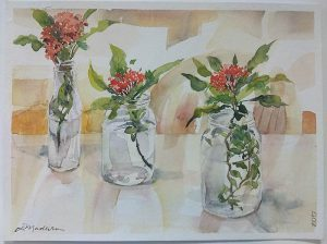 Vidro e flor