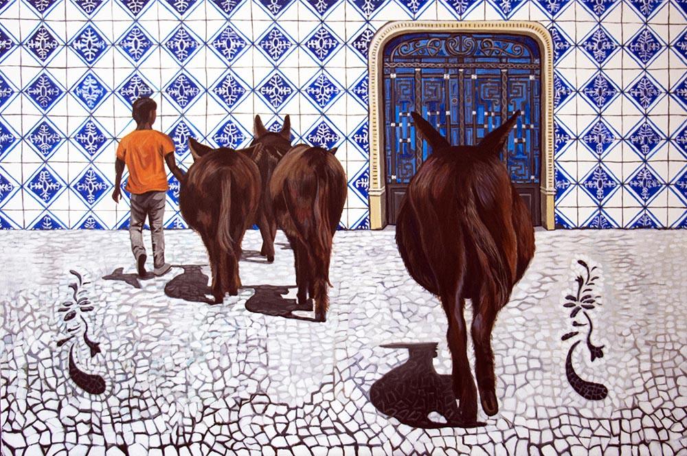 Fernanda Eva - Até quando existirão burros- 100x150