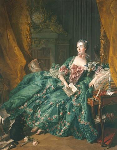 François BOUCHER (1703 -1770) Madame de Pompadour, 1756. Óleo sobre tela, 201x157. Alte Pinakothek, Munique, Alemanha.