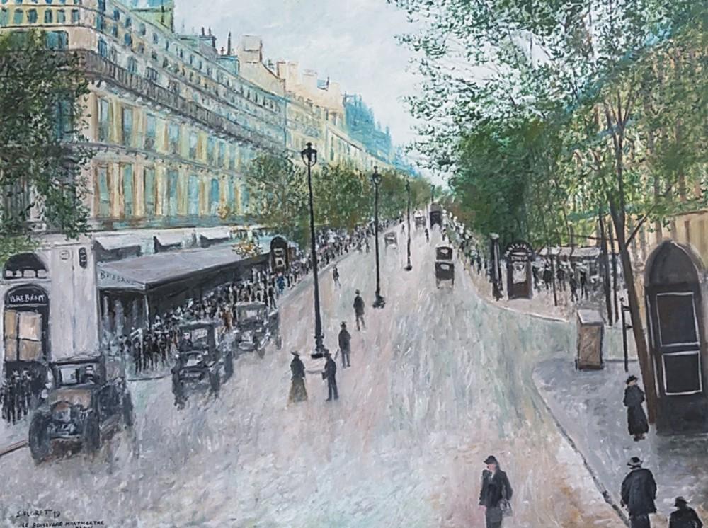 Sávio Floret. Boulevard Montmartre - Paris - OST 100X133 cm - R$ 65.800,00