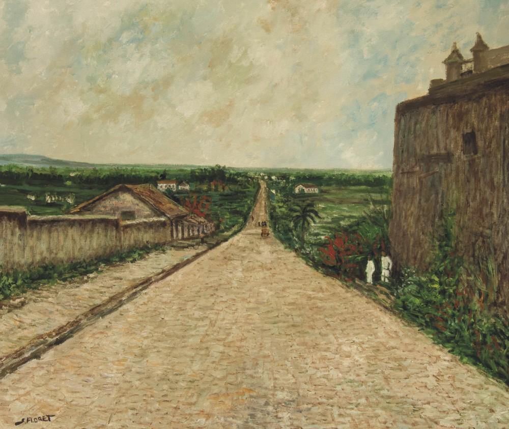 Sávio Floret. Ladeira do Carmo 1862 - Av. Rangel Pestana - OST 60X70 cm - R$ 10.800,00
