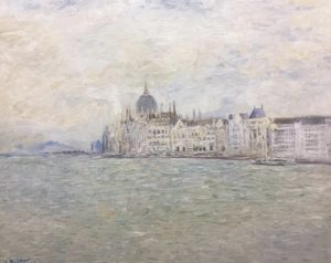 Sávio Floret. Parlamento Húngaro - Budapeste - OST 65X81 cm - R$ 22.800,00